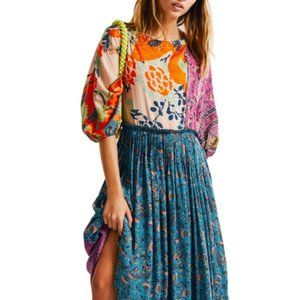 Free People What You Want Maxi Dress Boho Floral